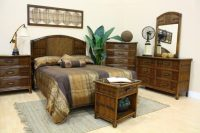 Rattan and Bamboo Bedroom Furniture Sets