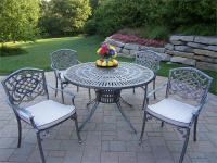 Antique Iron Patio Set Table Chairs Furniture