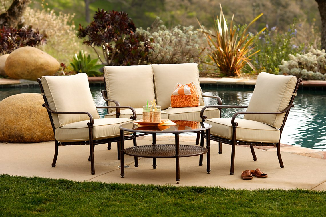 Metal Patio Furniture Sets for Outdoor Small Spaces
