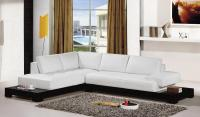 White Leather Sectional Sofa