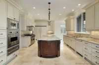 antique-white-kitchen-cabinet-with-white-granite