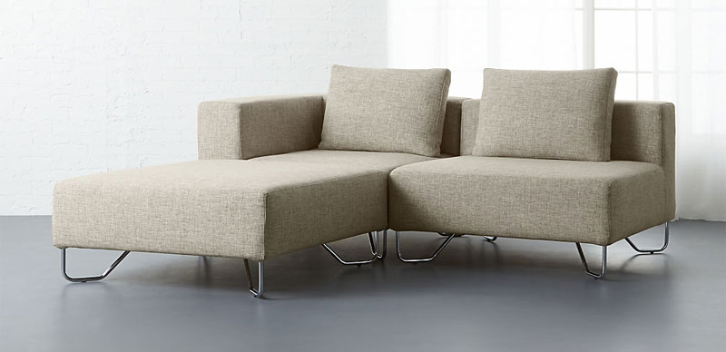 CB2 Lotus 3-Piece Sectional Sofa