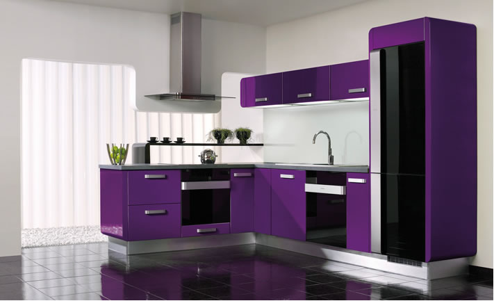 Modern Purple Kitchen and Accessories Design Ideas