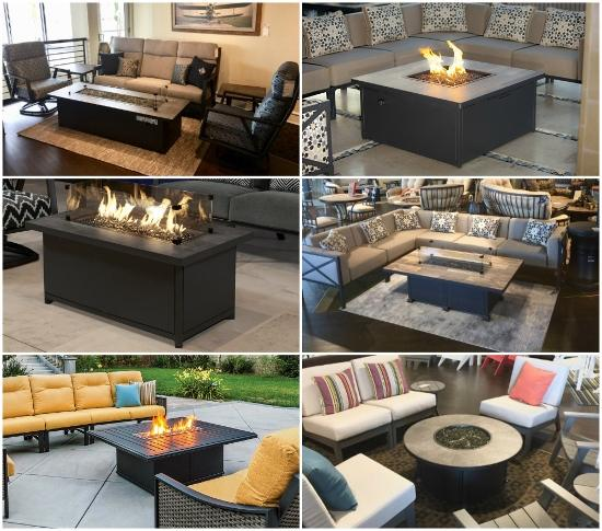 Occasional Height Fire Pits Contemporary Trends in Outdoor Furniture 2018