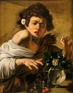 Caravage, Michelangelo Merisi dit (1571 - 1610) Garçon mordu par un lézard 1594