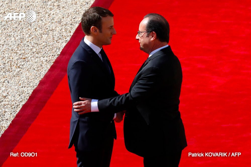 Hollande - Macron 14mai17