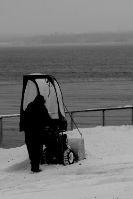 Local people are really into their snow clearing machinery