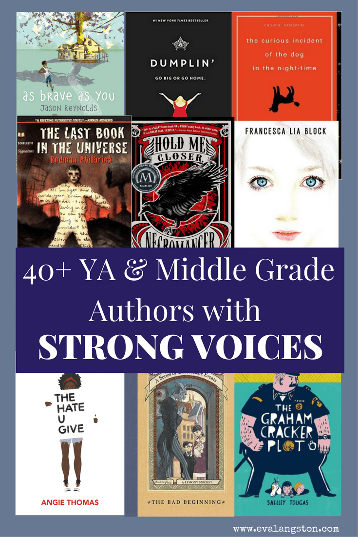 "What is ""voice""? And how can you find a writing voice of your own? 40+ Examples of YA and Middle Grade authors with strong writing voices!"
