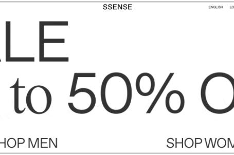 SSENSE折扣碼分享,2019歐美網購下殺5折+推薦品牌商品