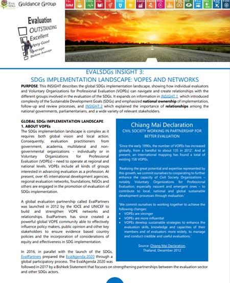 3: SDGs Implementation Landscape: Vopes And Networks