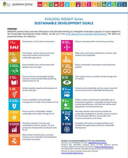 0. EVALSDGs INSIGHT Series – TheSDGs Summary