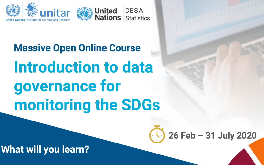 "UNITAR-UNSD e-course ""Introduction to data governance for monitoring for the SDGs"""