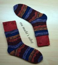 Socken stricken Muster Hauch von nichts