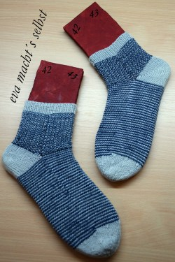 Socken stricken gumgum resteverwertung
