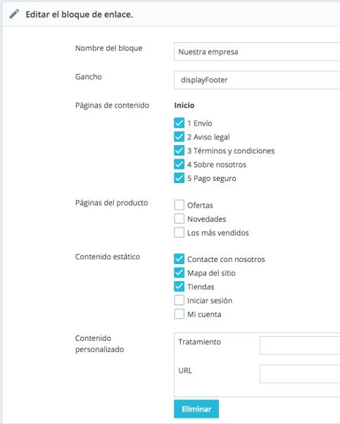 modificar link widget en prestashop 1.7