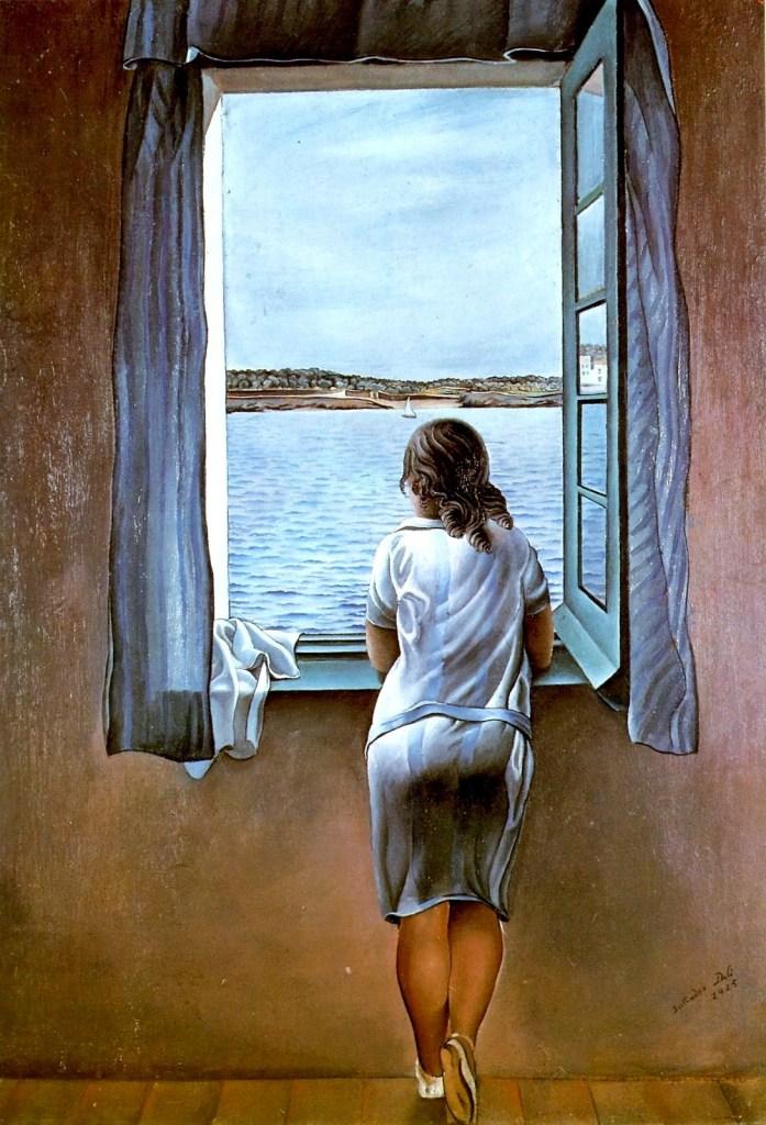 muchacha-en-la-ventana Dalí