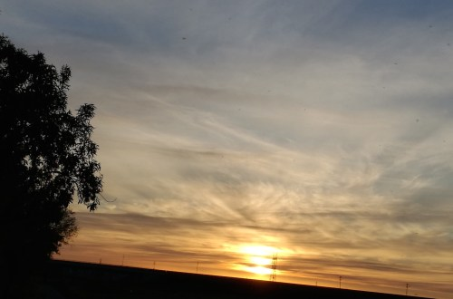 Puesta de sol tras la caminata