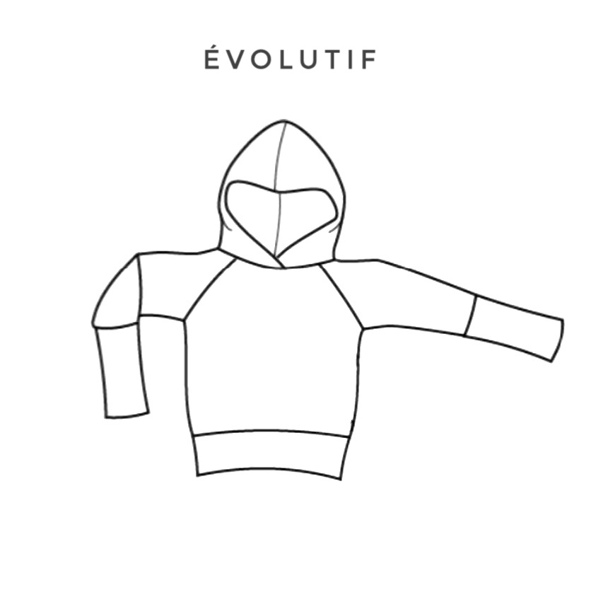 hoodie evolutif