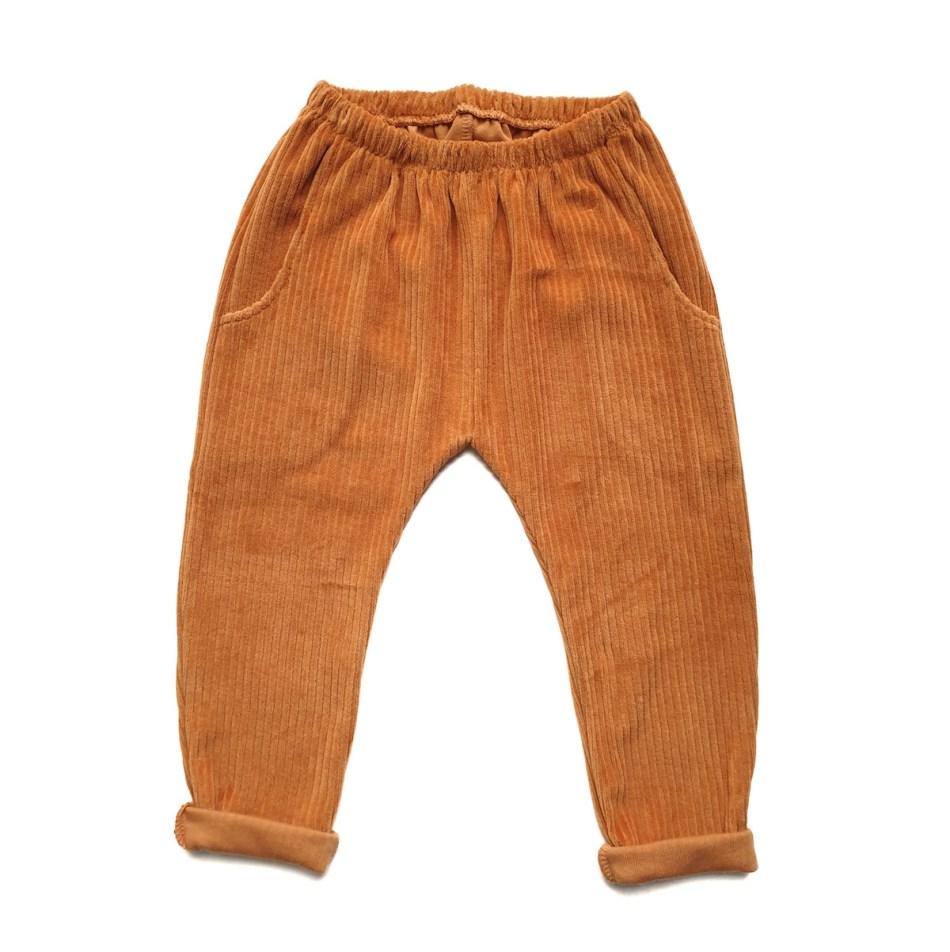 Pantalon lounge velours 100% coton Bio GOTS evamia