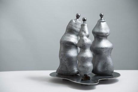 scultura ceramica maiolica SUCCULENTE