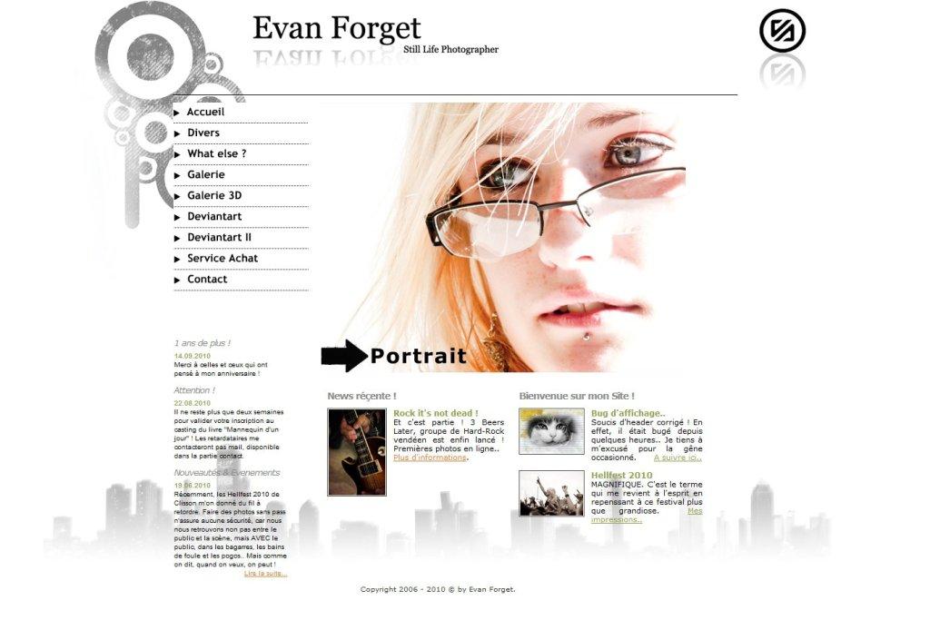 Toute première version de mon site Internet.