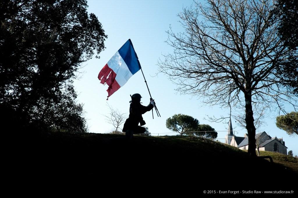 Clone au drapeau