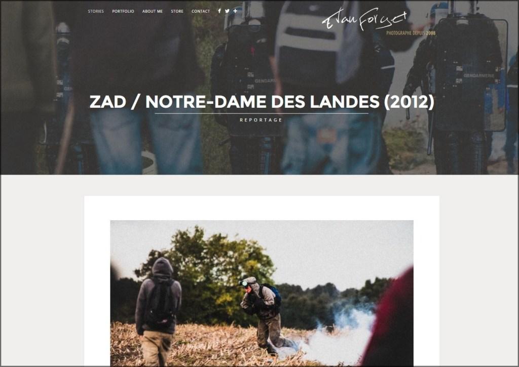 Page STORIES de la ZAD de Notre-Dame des Landes