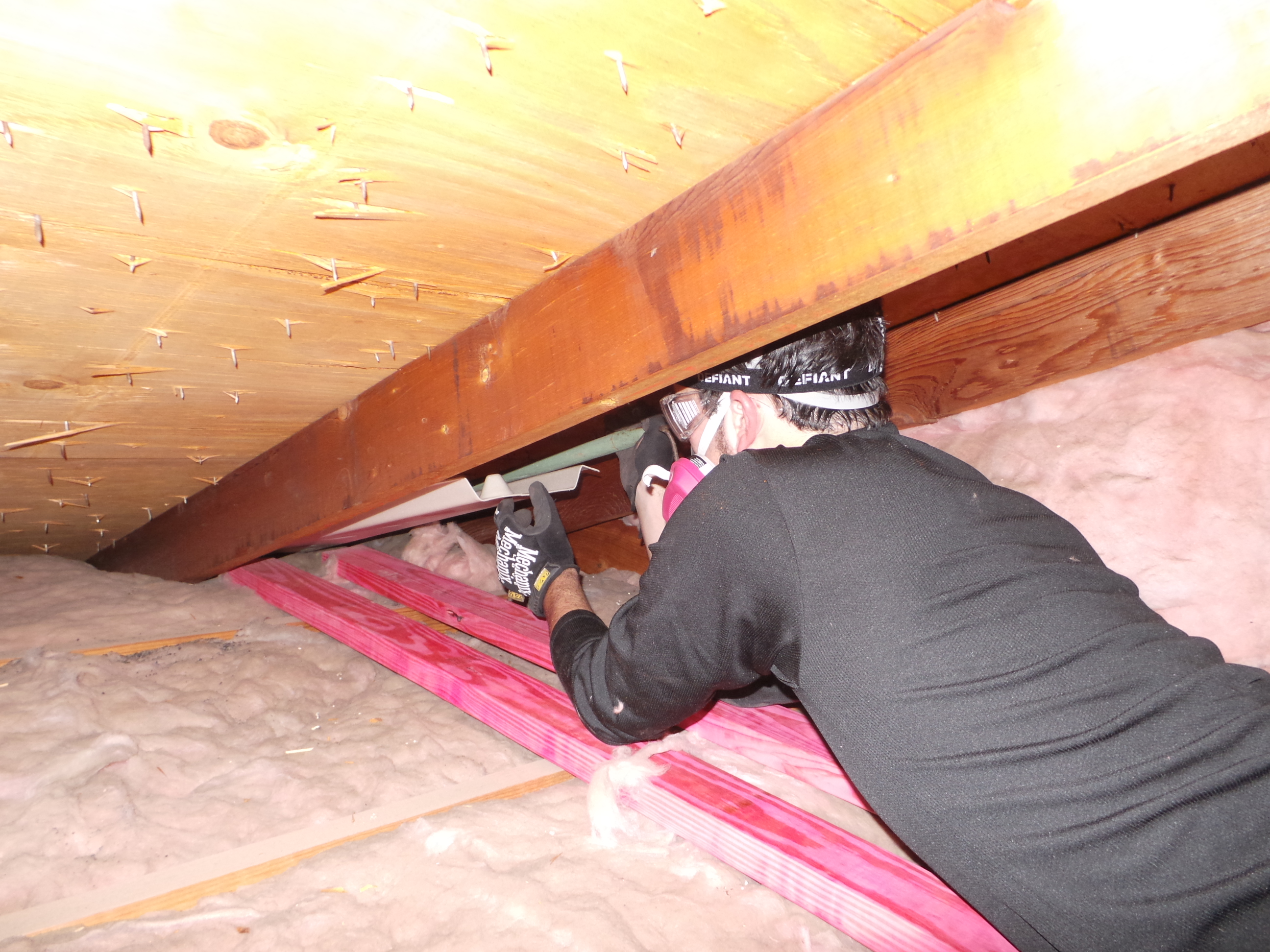 Attic Prep Part 6 Vent Chutes Evan Amp Katelyn Home Diy
