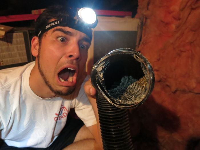 Attic Prep Part 4- Exhaust Vent Fail- evanandkatelyn.com