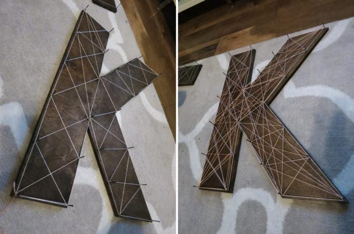 DIY Nail & String Letters - evanandkatelyn.com
