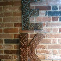 Nailed It! DIY Free-Standing Nail & String Letters