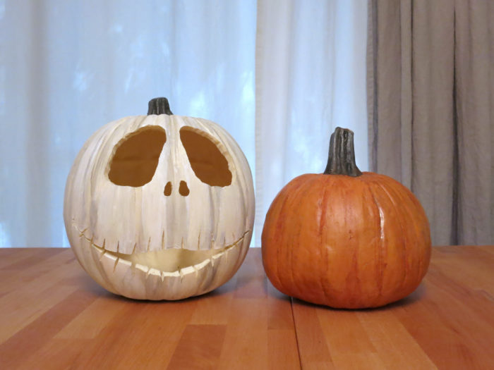 DIY Pumpkins, 3 Ways - Puffy Paint, Realistic, & Metallic Ombre - evanandkatelyn.com