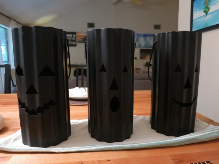 Upgrading Halloween Hurricanes with Copper Spray Paint evanandkatelyn.com
