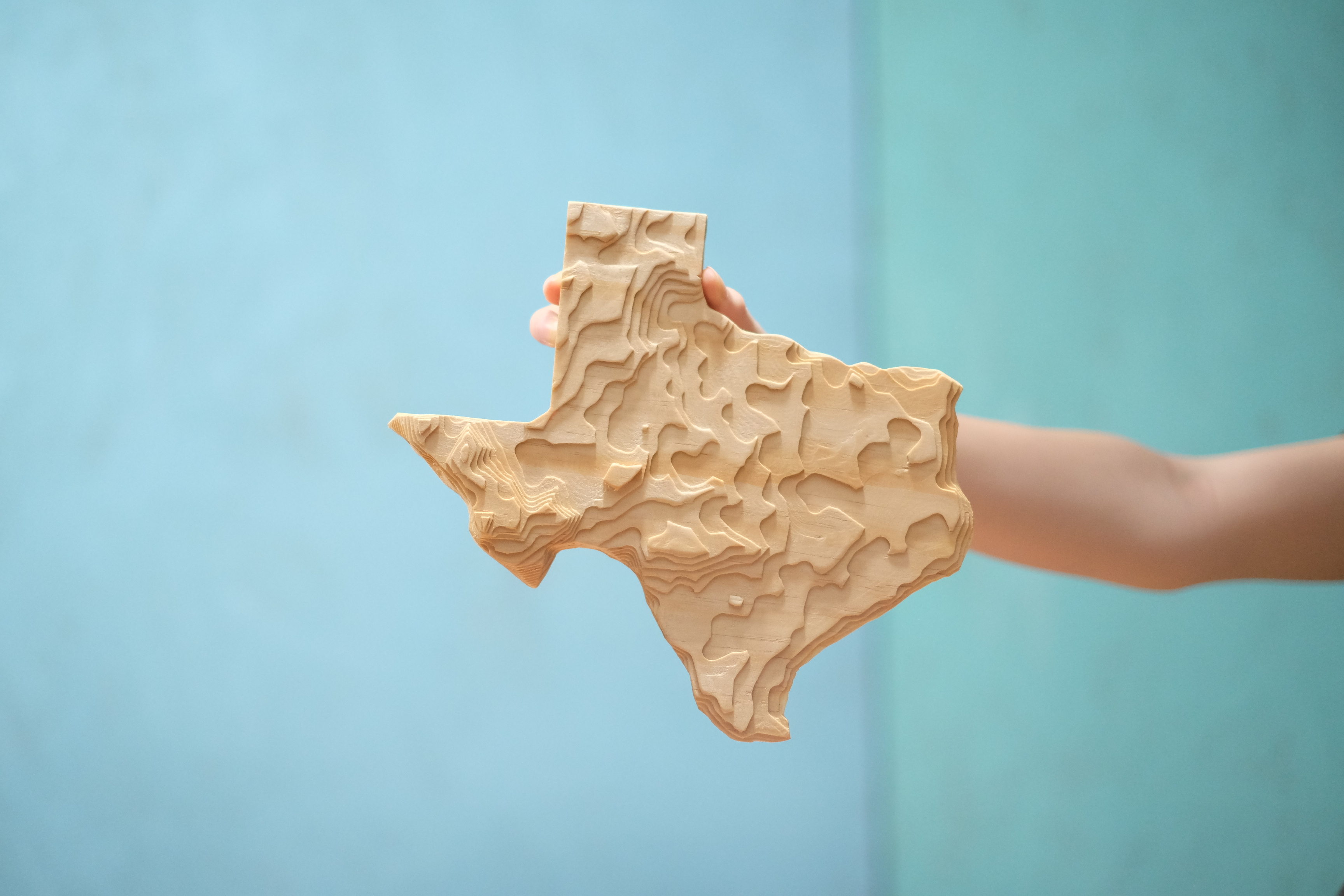 CNC topographical wooden state - Evan & Katelyn | Home DIY | Tutorials
