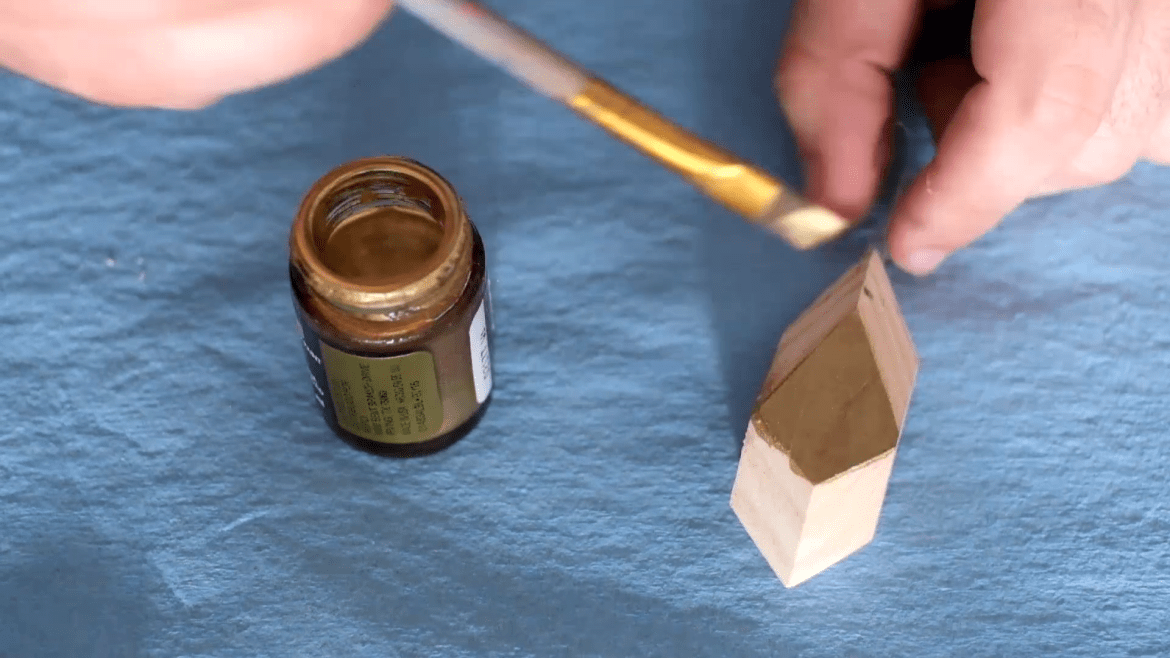 DIY gold faceted ornaments