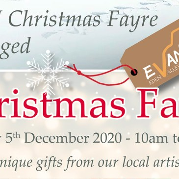 Due to covid-19 the Rheged Christmas Fayre is cancelled.