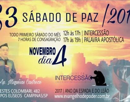 S3 - Sábado de Paz / Novembro
