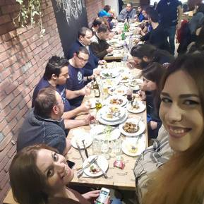 When we gather around a table everything will be set perfectly... @8th WordPress Thessaloniki Meetup