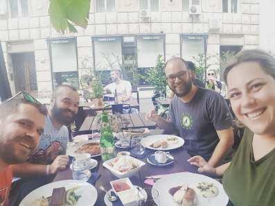 First lunch in Belgrade among good friends...