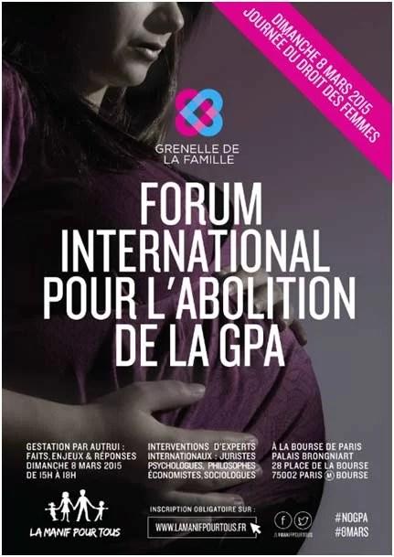 Forum contre GPA 8 mars 2015