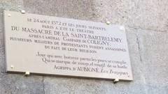 Saint-Barthélemy plaque commémorative