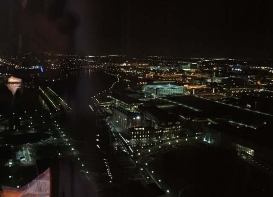 Night time view of Indy