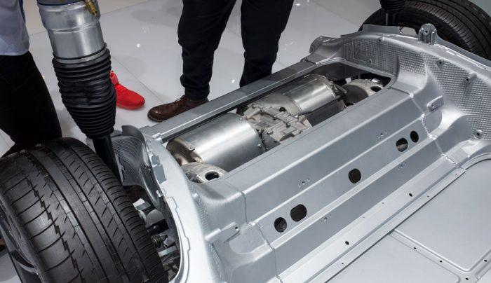Tesla Dual Motors in Chassis