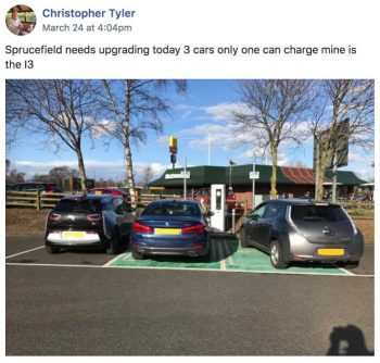 Rapid Charging EVs Sprucefield