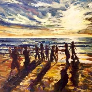 Ecstatic Dance on the beach in San Diego, California