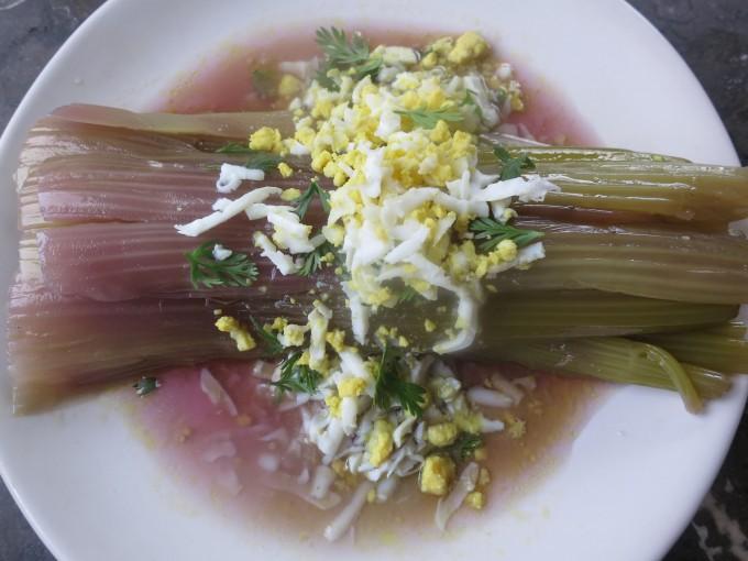 Celery Vinaigrette made with Dashi