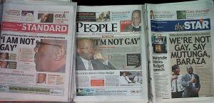 The Kenyan Headlines: NOT GAY