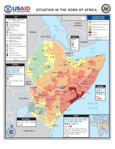 USAID map of Horn of Africa Food Crisis