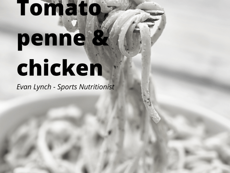 Healthy chicken & pasta recipe for weight loss by Evan Lynch, sports nutritionist