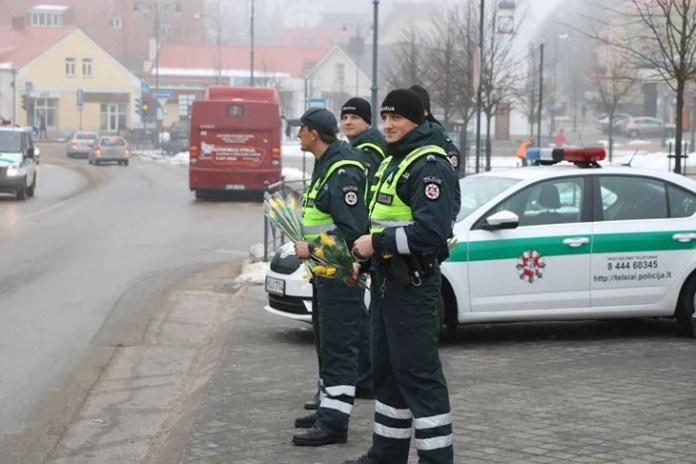Blomster fra Politiet i Litauen
